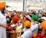 Hot day - Sweetened water distributed among devotees at Golden Temple