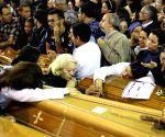 EGYPT TANTA CHURCH BLAST FUNERAL