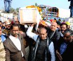 Tarn Taran (Punjab): Pulwama militant attack - last rites of martyr Sukhjinder Singh