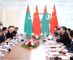 UZBEKISTAN CHINA XI JINPING TURKMEN PRESIDENT MEETING
