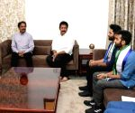TDP MLA Vasupalli Ganesh calls on Andhra CM