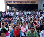 Delhi teachers' demonstration