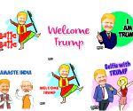 Trump performs Balle Balle in Bobble GIFs, stickers