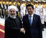 IRAN TEHRAN ROUHANI JAPAN ABE VISIT