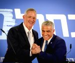ISRAEL TEL AVIV ELECTIONS BENNY GANTZ YAIR LAPID ALLIANCE