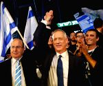ISRAEL-TEL AVIV-ELECTORAL RALLY-BENNY GANTZ