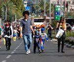 ISRAEL TEL AVIV PURIM STREET PARTY