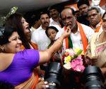 BJP sweeping Lok Sabha elections, K. Laxman celebrates