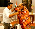 KT Rama Rao meets Rajnath Singh