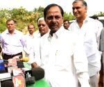 Telangana Assembly election - K Chandrasekhar Rao casts his vote