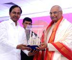 Presidential candidate Kovind meets TRS leaders