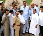KCR inspects Golkonda Fort