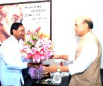 KCR calls on Union Ministers