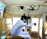 Telangana CM conducts aerial survey of flood affected areas