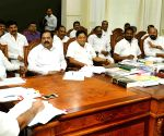 K. Chandrasekhar Rao during a review meeting