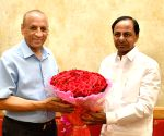 Telangana State Formation Day, Chandrasekhar Rao meets ESL Narasimhan