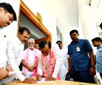 KCR during TRS meeting