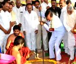 KCR lays foundation stone of Kaleshwaram irrigation project