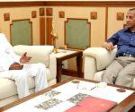 Telangana CM meets Governor ESL Narasimhan
