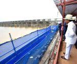 Telangana CM visits Medigadda Barrage