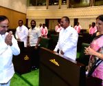 K. Chandrashekhar Rao presents Telangana State Budget