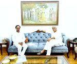 Free Photo: Telangana CM Chandrashekhar Rao meets Gajendra Singh Shekhawat.