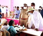 Free Photo: Telangana CM lunches with people in adopted village