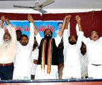 N. Uttam Kumar Reddy addresses during a meeting