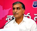 T. Harish Rao talks to the press