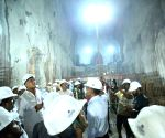 Siddipet (Telangana): T. Harish Rao visits Mallanna Sagar reservoir project site
