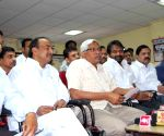 Telangana JAC convenor Kodanda Ram addressing media