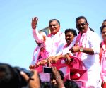Telangana Assembly elections - T. Harish Rao during a roadshow