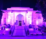 Free Photo: Telangana Raj Bhavan lit up in pink for breast cancer awareness