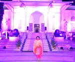 Free Photo: Telangana Raj Bhavan lit up in pink for breast cancer awareness.
