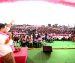 K.T. Rama Rao during a public meeting in Telangana