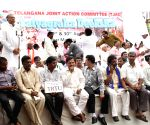 Telangana supporters dharna at Janter Mantar