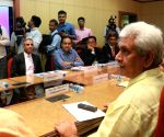 Telecom players meet Manoj Sinha