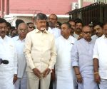 TDP delegation led by N. Chandrababu Naidu meets CEC