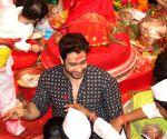 Adhyayan Suman and Aanand Raut visited Lalbaughcha Raja