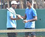 Davis Cup - practice session