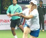 Exhibition match - Mahesh Bhupathi and Sania Mirza vs Martina Navratilova and Leander Paes