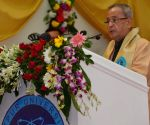 Pranab Mukherjee during the 12th Convocation of Tezpur University