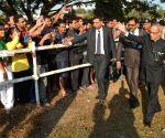 Pranab Mukherjee arrived at Tezpur University