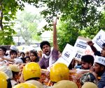CYSS, AISA demonstration against Delhi Police
