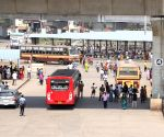 The Chennai Koyambedu bus stand as a deserted look during the Bharath Bandh