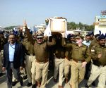 Pulwama militant attack - Martyr's coffins