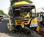 16 students, driver of school bus hurt in Noida accident