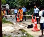 Fire breaks out at Gas pipeline in Shastri Nagar