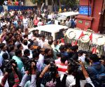Mortal remains of Boroma being taken to Thakurnagar