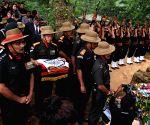 Major David Manlun's last rites